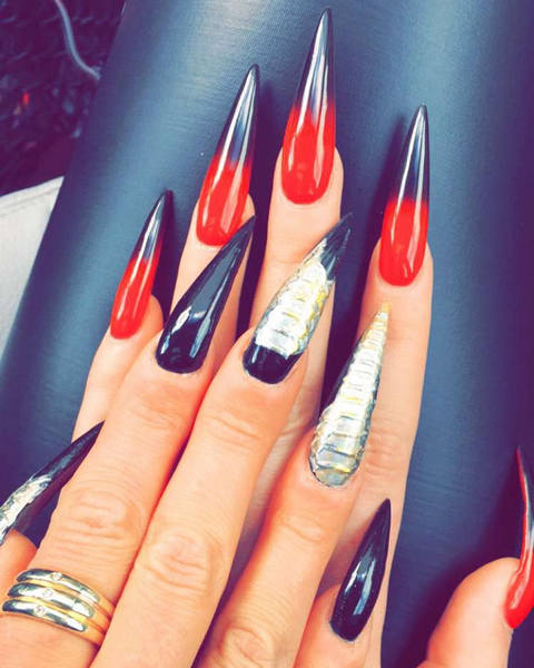 Vampire Fang Nails Spooky Nail Trend Youll Be Obsessed With My