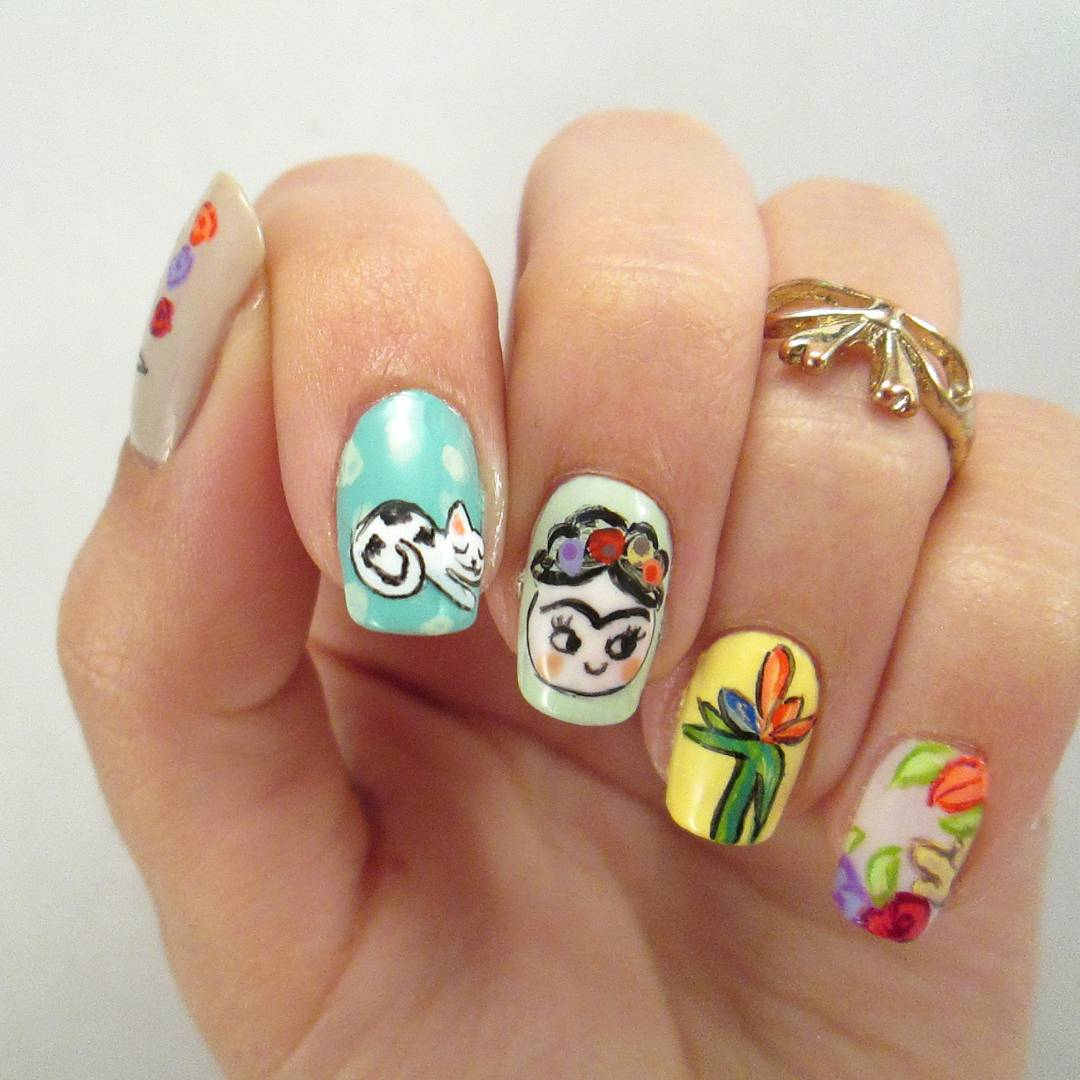 Make a Work of Art by Creating a Nail\'s Homage to Frida Kahlo – My ...