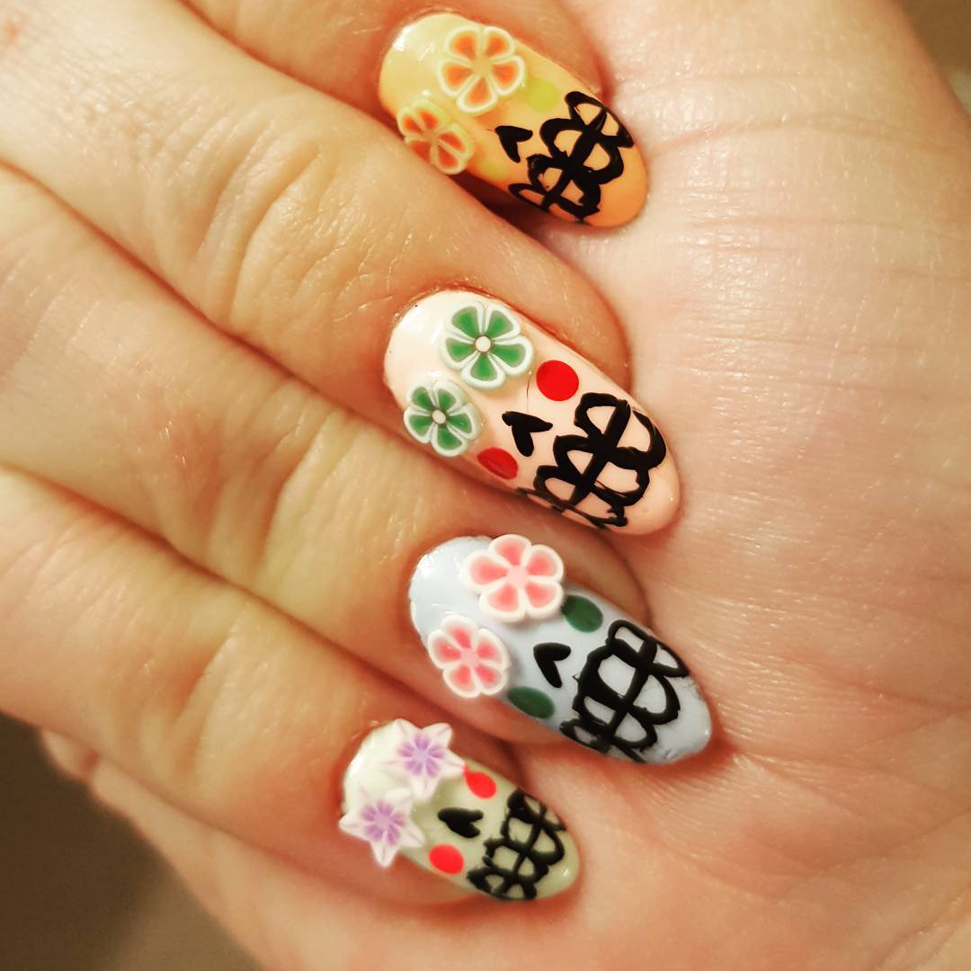 These Skull Nail Designs will Thrill You to The Bone – My Cup of Tea