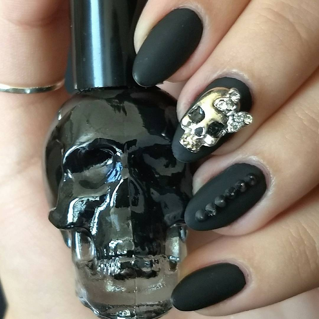 These Skull Nail Designs Will Thrill You To The Bone My Cup Of Tea