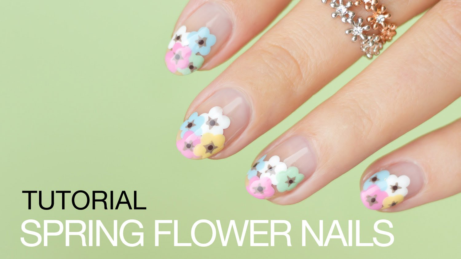 Colorful Fun Spring Flower Nail Art Tutorial Step By Step My Cup Of Tea